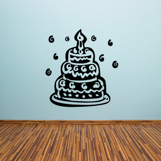 Tier Birthday Cake Decal