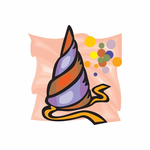 Birthday Hat Sticker