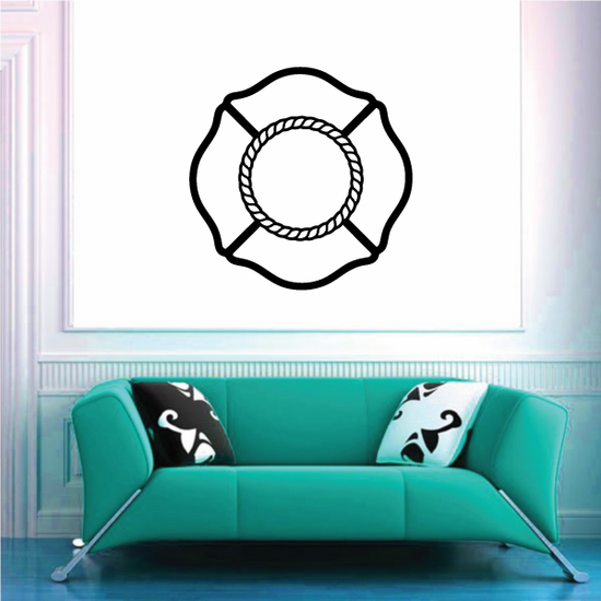 Fireman Rope Crest Decal