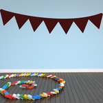Triangle Birthday Banner Decal