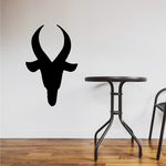 Simple Mountain Goat Head Decal