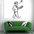 Man Holding Cash Wall Decal - Vinyl Decal - Car Decal - Business Decal - MC43