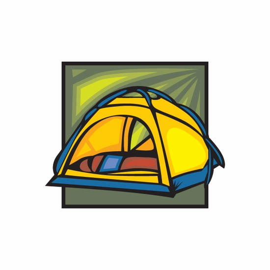 Camping Tent Sticker