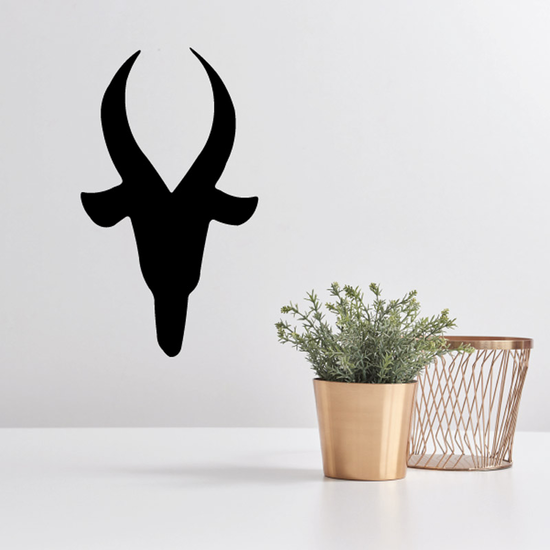 Mountain Goat Head Silhouette Decal