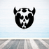 Abstract Round Goat Head Decal