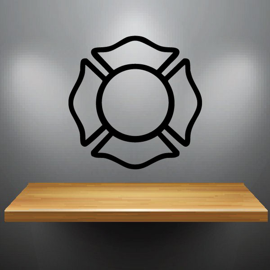 Firefighter Crest Outline Decal