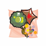 Holiday Birthday Round and Star Balloons Sticker
