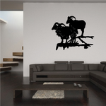 Mountain Goats on Cliff Decal