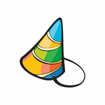 Holiday Birthday Colorful Hat Sticker