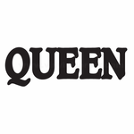 Queen Simple Text Decal