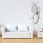 Basketball Step Back Jump Shot Action Decal