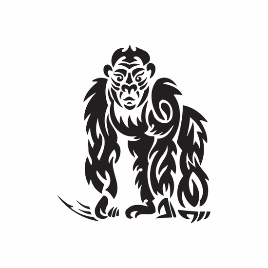 Tribal Gorilla Decal