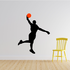 Basketball Player Approaching the Dunk Decal