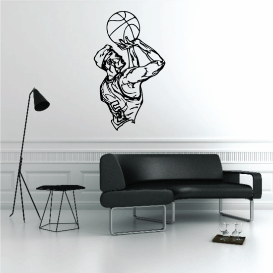 Basketball Wall Decal - Vinyl Decal - Car Decal - CDS065
