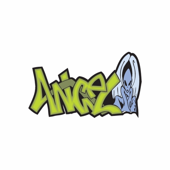 Angel Graffiti Sticker
