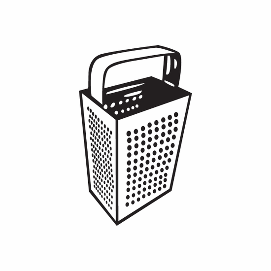 Cheese Grater Decal
