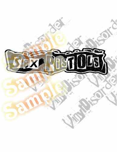Sex Pistols Straight Text Decal
