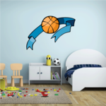 Basketball Wall Decal - Vinyl Sticker - Car Sticker - Die Cut Sticker - CDScolor201