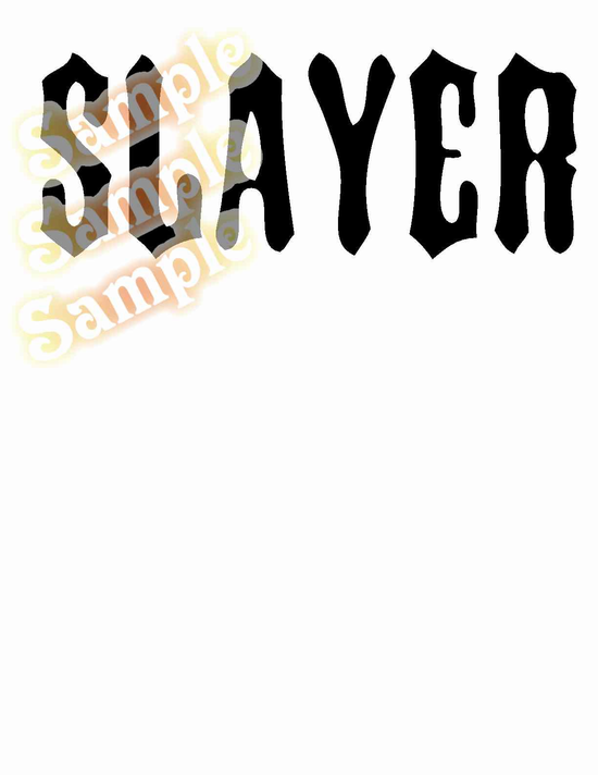 Slayer True Text Decal