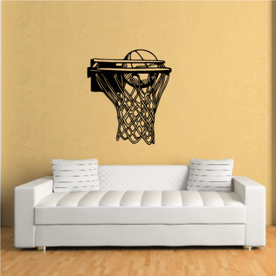 Double Rim Basketball Net Decal