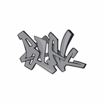 Blak Graffiti Sticker