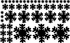 Radial Snowflakes Wall Decals Kit