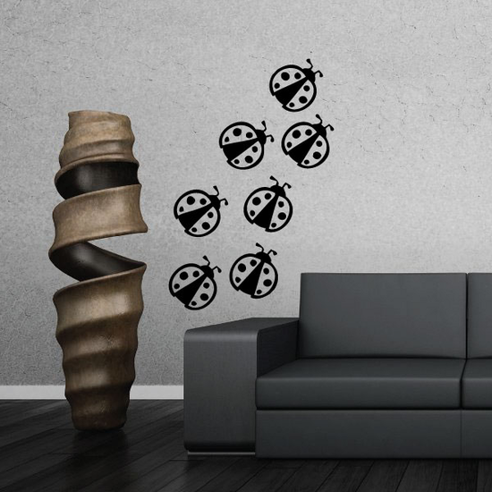 Lady Bugs Wall Decals Kit