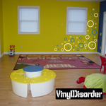 Outlined Circle Wall Decals Kit