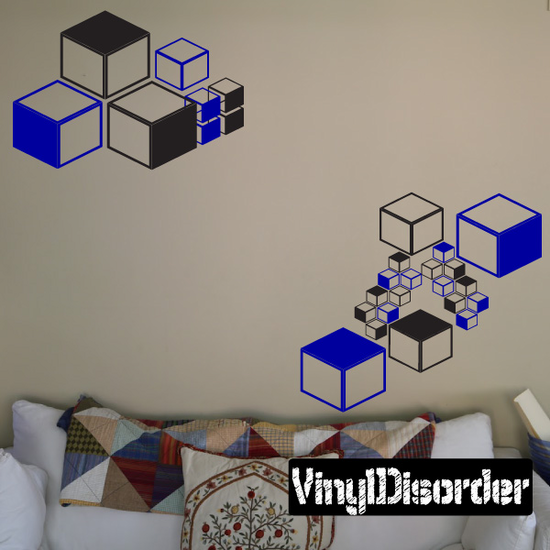 Cubes Wall Decals Kit