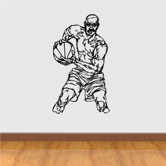 Basketball Wall Decal - Vinyl Decal - Car Decal - CDS051