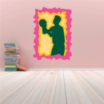 Basketball Wall Decal - Vinyl Sticker - Car Sticker - Die Cut Sticker - CDScolor030