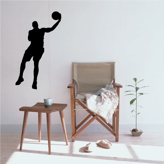 Lay Up Basketball Wall Decal - Vinyl Decal - Car Decal - 013