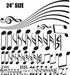 Musical Notes and Wavy Staff Wall Decals Kit