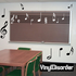Music Notes and Basic Staff Wall Decals Kit