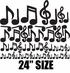 Music Notes Wall Decals Kit