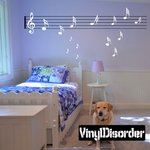 Music Notes and Staff Wall Decals Kit