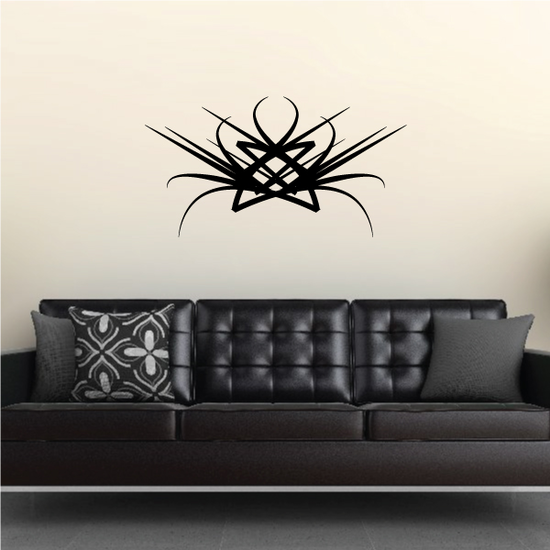 Tribal Pinstripe Wall Decal - Vinyl Decal - Car Decal - 299