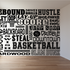 Basketball Word Collage Decal