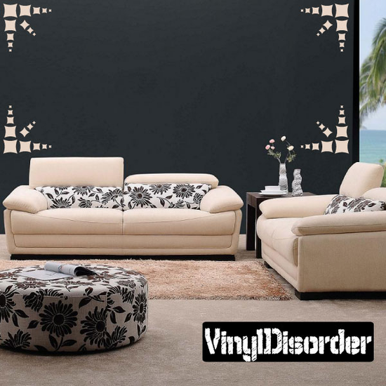 Pinched Sqaure Wall Decals Kit