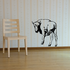 Glancing Back Bison Buffalo Decal