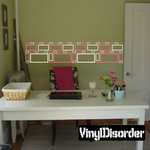 Outlined Rectangle Wall Decals Kit