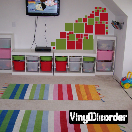 Squares Wall Decals Kit