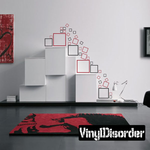 Outlined Square Wall Decals Kit