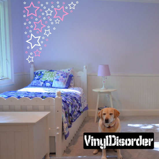 Outlined Star Wall Decals Kit