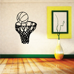 Basketball Toss into Net Rim Decal