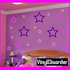 Basic Outlined Star Wall Decals Kit