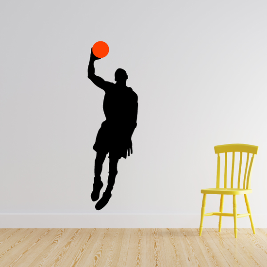 Basketball Up and Over Decal