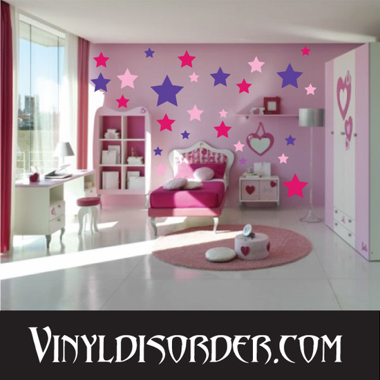 Star Wall Decals Kit
