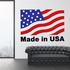 Made in the USA Wavy Flag Sticker