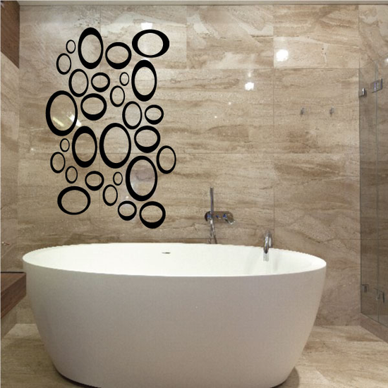 Outlined Pebbles Wall Decals Kit